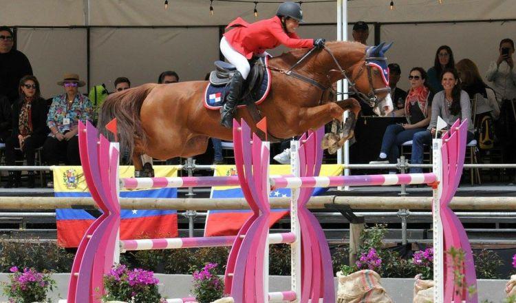 Clotilde Lewis durante su actuación en los Juegos Centroamericanos y del Caribe en Barranquilla. /Foto Cortesía