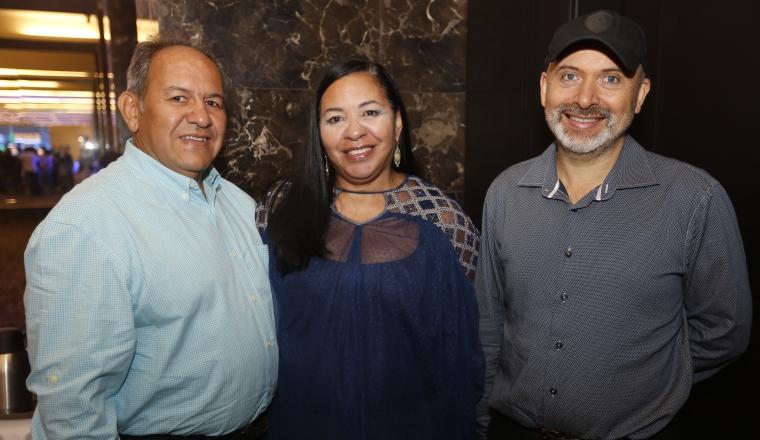 3. José Ramón Huerta, Ana Luisa Franco de Huerta y  Ramón Timblau.