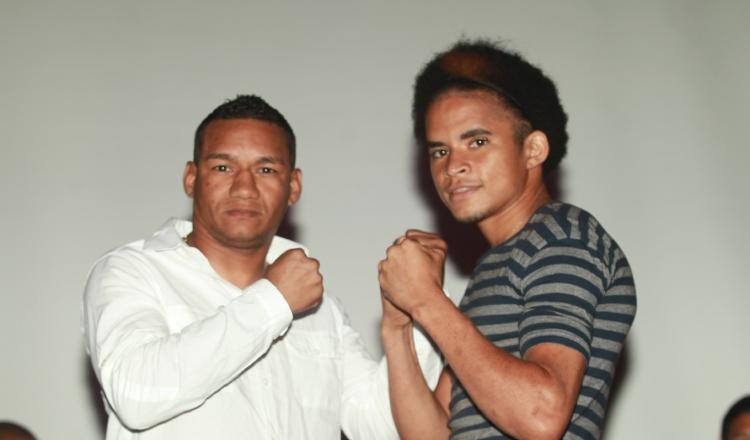 Carlos Ortega y Johnny Garay en rueda de prensa. Foto/Anayansi Gamez