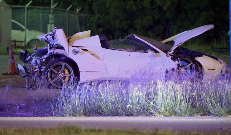 Foto del auto de Errol Spence. AP