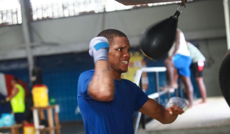 Jaime Arboleda en sus entrenamientos en el gimnasio.  Foto: Anayansi Gamez