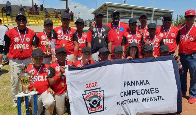 Coclé sigue mandando en Pequeñas Ligas, dice su técnico  tras triunfo en el Nacional Infantil