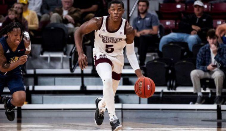 Iverson Molinar juega en elk Mississippi State.