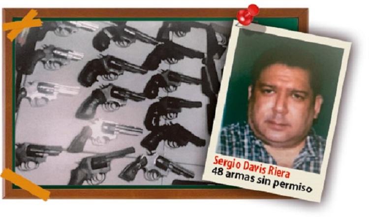 Sergio Davis pide reserva en investigación por tráfico de armas