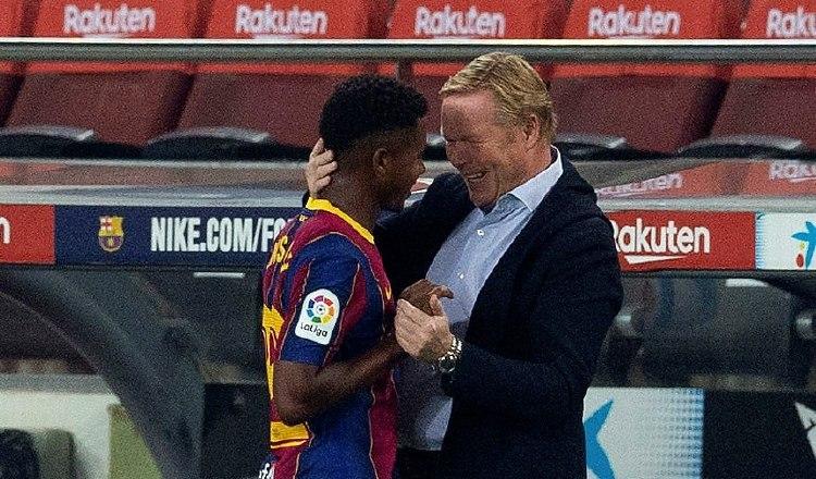 Barcelona golea en su debut de temporada y Ansu Fati fue la figura
