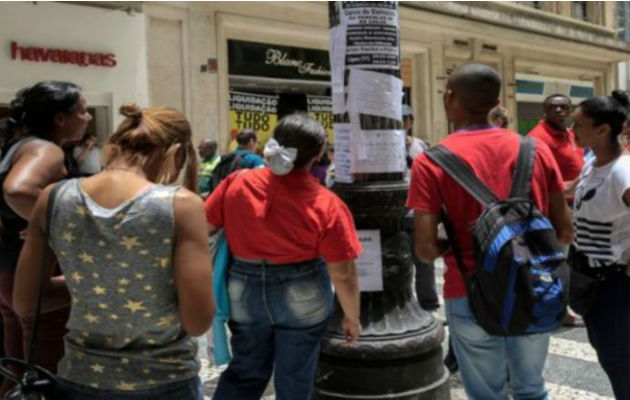 El 41.4% de la población ocupada en Brasil trabaja de manera informal. Foto: EFE.