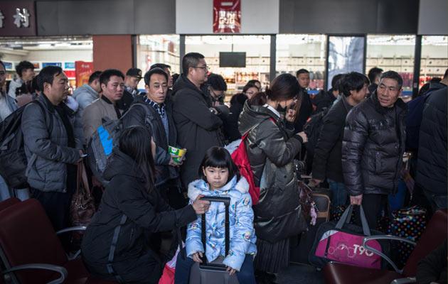La mayor migración humana arranca con el Año del Cerdo en China