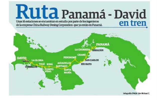 Empresa china entrega hoy estudio de factibilidad para construcción de tren Panamá-David