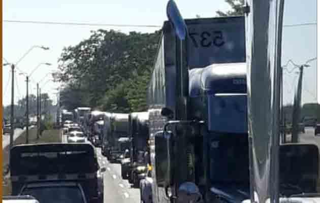 Transportistas de carga protestan en Chiriquí por competencia desleal
