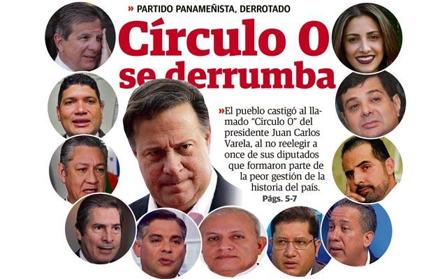 Varelistas llevarían sobre sus hombros la estrepitosa derrota del Partido Panameñista
