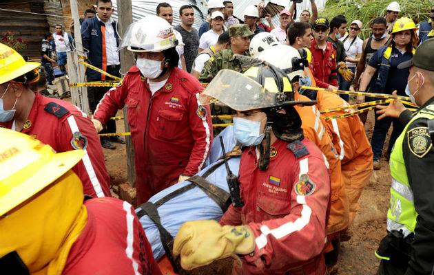 Colombia: nueve muertos deja un deslizamiento en Colombia