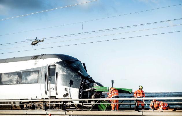 Mueren 6 personas y 17 heridos en accidente ferroviario en Dinamarca