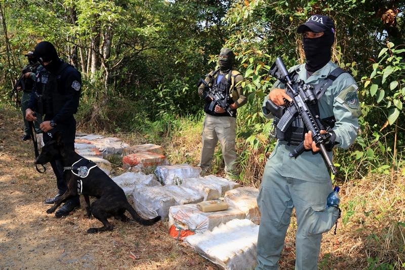Más de 450 paquetes de droga fueron decomisados en Cerro Azul