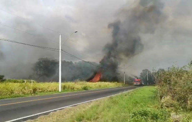 Bomberos advierten sobre un repunte en los incendios forestales en Panamá Oeste