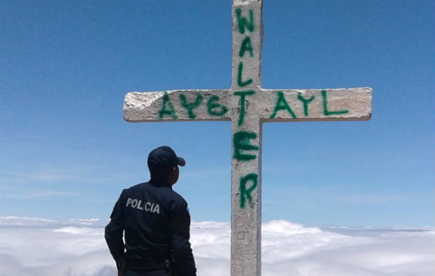 Cierra periodo de descargos para jóvenes que hicieron grafitis en cruz de volcán Barú
