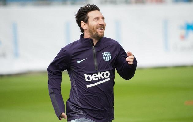 Leo Messi vuelve a los entrenamientos tras lesión en el brazo