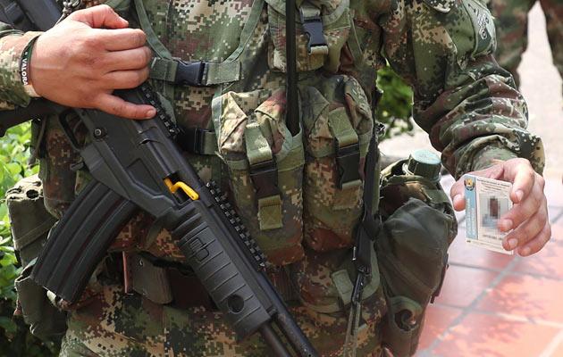 En el departamento de La Guajira (norte) la cifra de uniformados ha llegado a por lo menos 30, mientras que en el resto de la región caribeña se han presentado 23 militares hasta el momento. FOTO/EFE