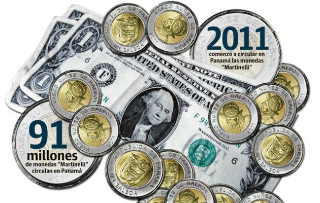 Monedas 'Martinellis' le ganan la partida al dólar en Panamá