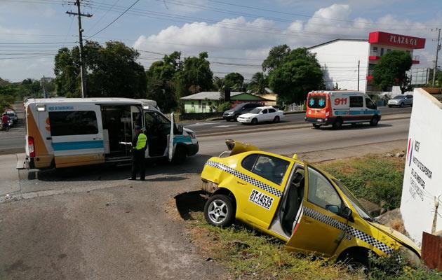 Cuatro personas resultan lesionadas por una colisión en Nuevo Arraiján