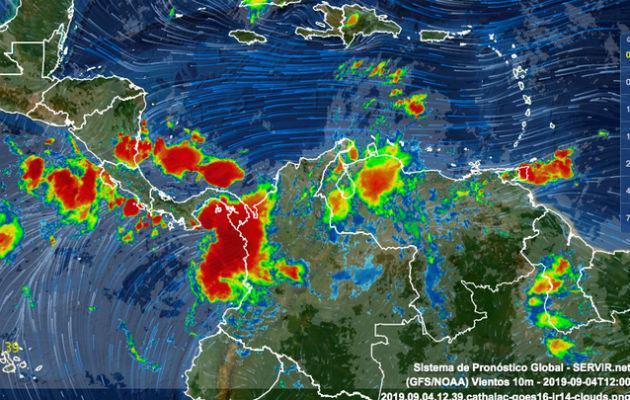 Onda tropical N° 37 afectará todo el istmo de Panamá, según el Sinaproc