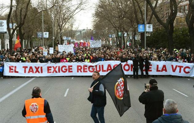 Los taxistas vuelven a las calles de Madrid contra la