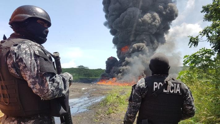 Rechazan la quema de drogas en Playa Leona de La Chorrera