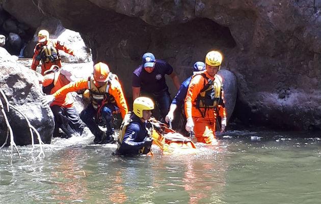 Recuperan cuerpo de bañista ahogado en el río Caldera en el distrito de Boquete