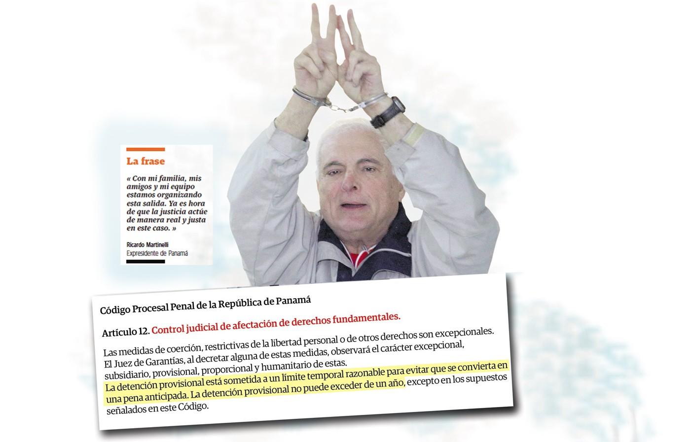 'Ley es clara: Ricardo Martinelli debe quedar libre'