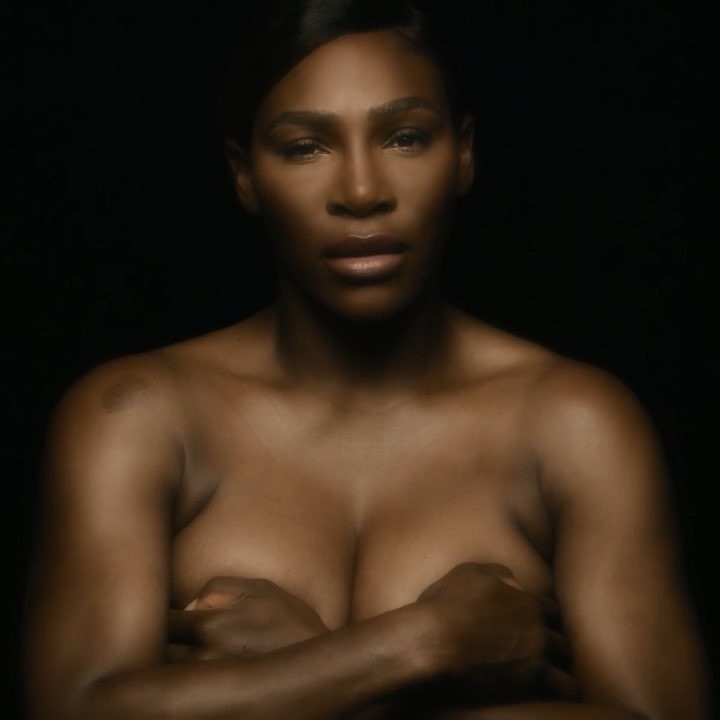 Serena Williams en topless, inicia campaña contra el cáncer de mama