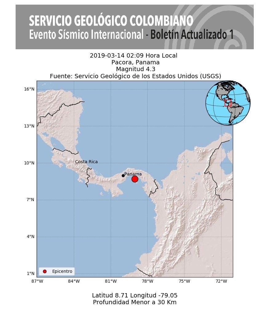 ¡En lo mejor del sueño! Panameños se despiertan por temblor a las 2 de la mañana