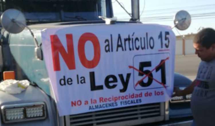 Transportistas de carga protestan