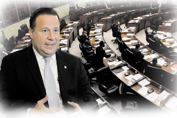 Juan Carlos Varela evalúa convocar a la Asamblea a sesiones extraordinarias