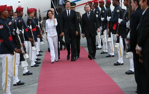 Presidente Juan Carlos Varela, Isabel De Saint Malo y Miguel Hincapié se van a Belice