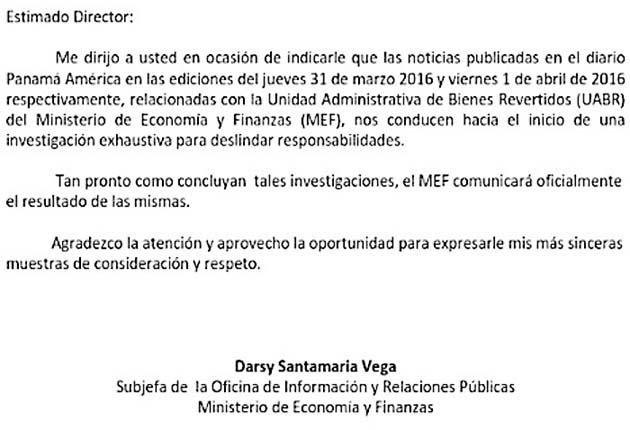 Mef inicia investigaci n por contrato panam am rica for Seguro responsabilidad civil autonomos obligatorio