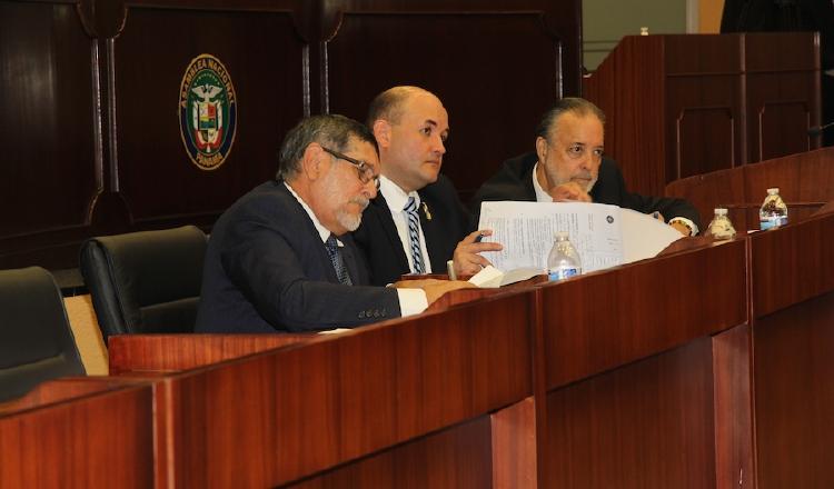 Magistrados del Tribunal Electoral en la Asamblea Nacional. /Foto Asamblea