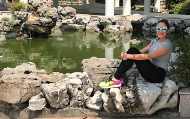 Diputada Katleen Levy en China / Foto tomada de su cuenta de Instagram.