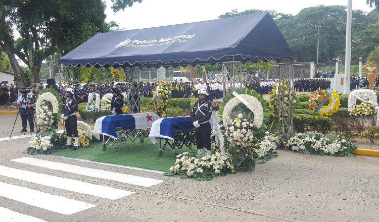 Honras fúnebres de policías /Foto Archivo
