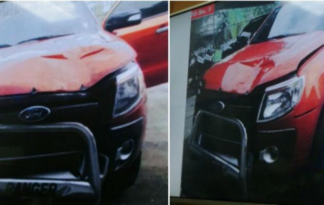 En la audiencia se mostró imágenes del auto tras el incidente.