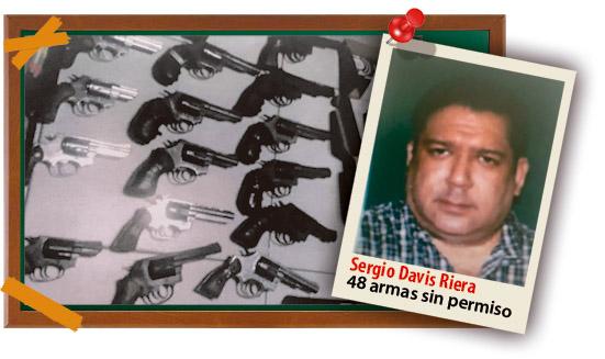Sergio Davis es  vinculado al tráfico ilegal de armas