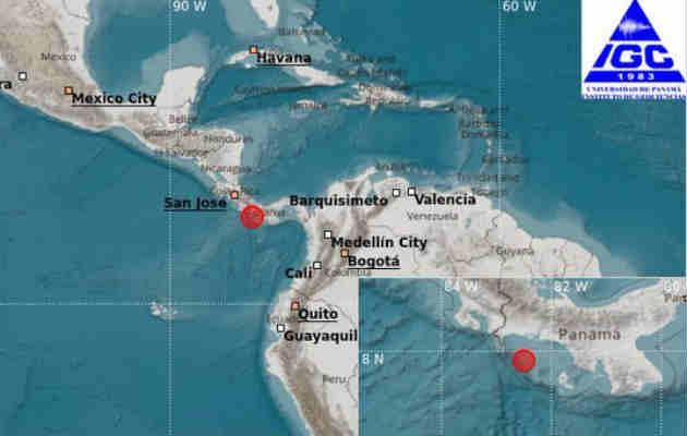 Sismo de 4.9 remeció Chiriquí la madrugada de este jueves