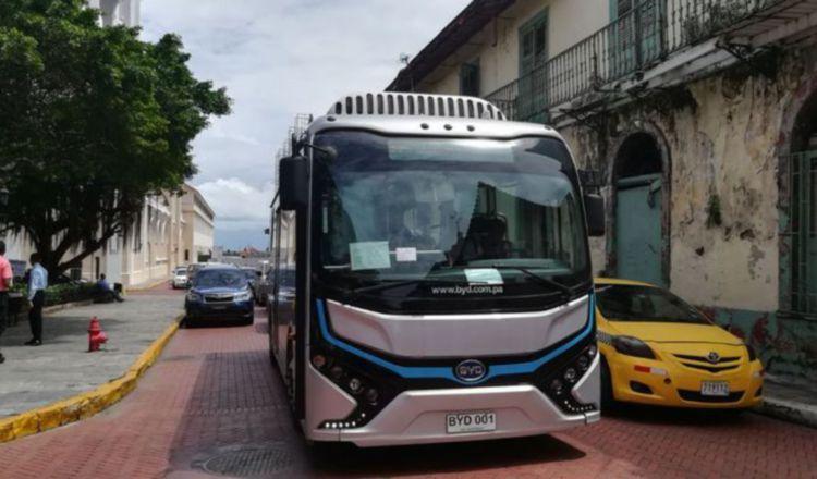 Plan Piloto de Movilidad Eléctrica de Mi Bus en la 5 de Mayo y el Casco Antiguo. Foto/Archivos