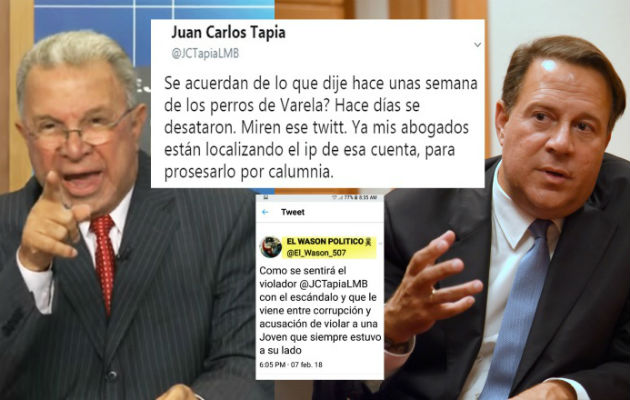 'VarelaLeaks': Juan Carlos Tapia llama cobarde a Juan Carlos Varela y amenaza con demandarlo