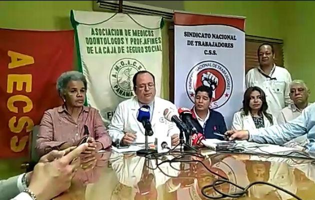 Gremios de trabajadores de la CSS se suman a las protestas en rechazo a las reformas constitucionales