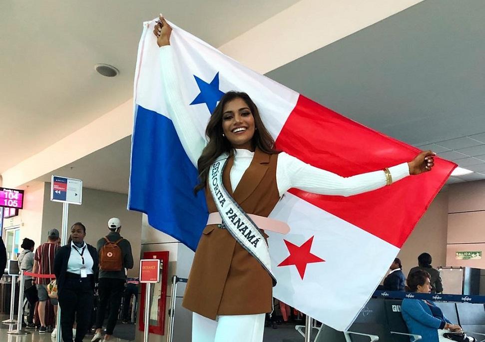 Mehr Eliezer, Señorita Panamá 2019, viajó a Atlanta para el Miss Universo 2019
