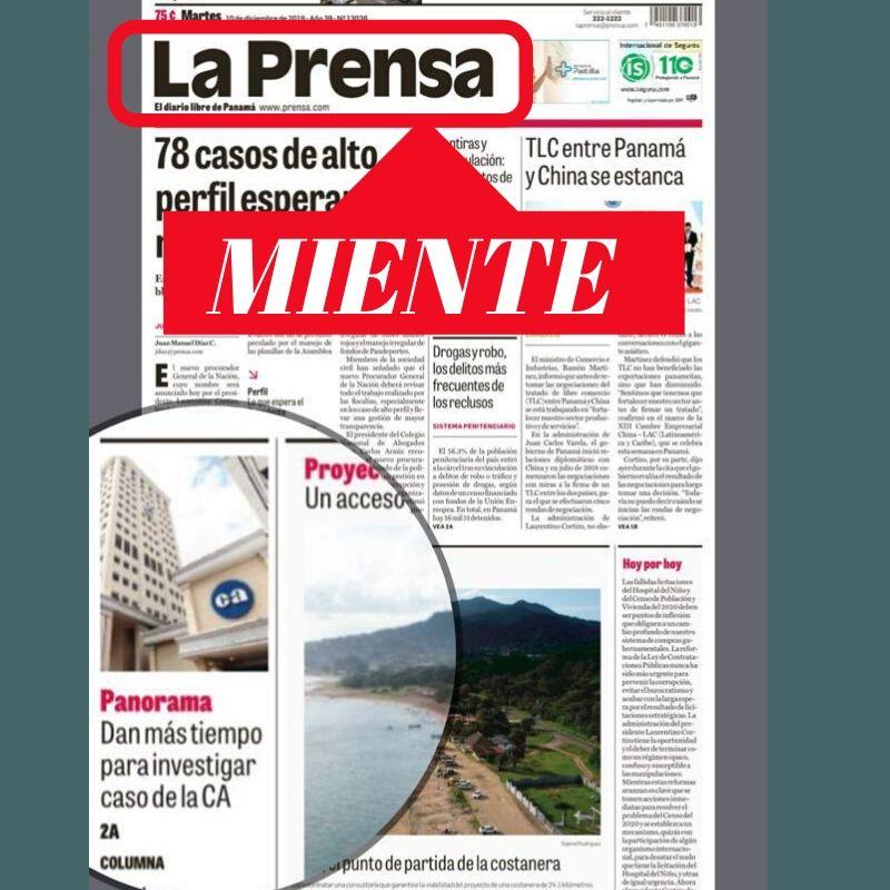 La Prensa vuelve a mentir en caso Caja de Ahorros, el proceso está en casación de la Corte