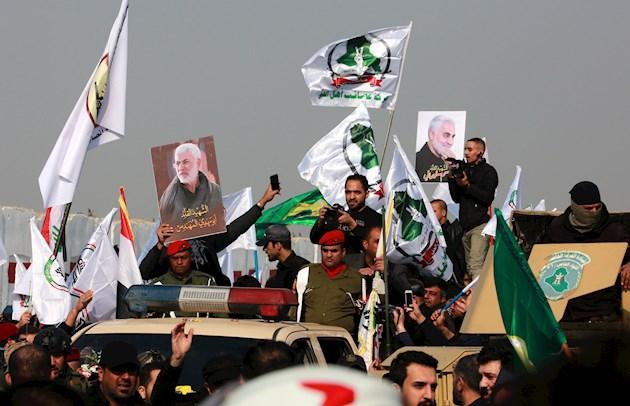 Marchas fúnebres en Bagdad para despedir a Soleimaní y los otros