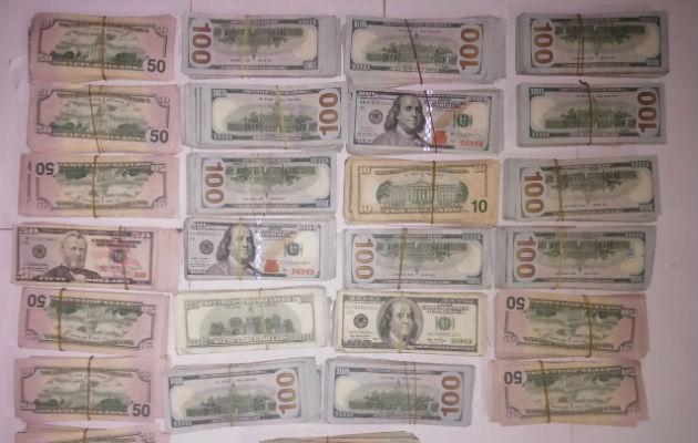 Aprehenden a dos personas con más de 200 mil dólares en efectivo en Chiriquí