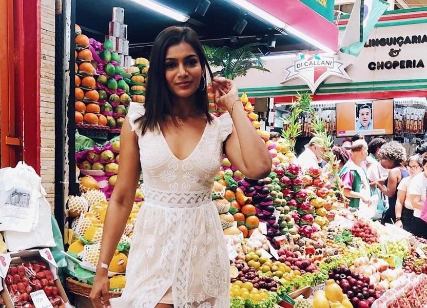 Mehr Eliezer, Señorita Panamá, recorre el Mercado Municipal de Sao Paulo