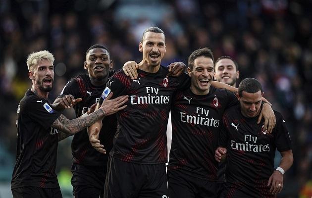 Zlatan Ibrahimovic anota en su primer juego titular con el Milan