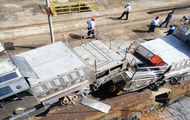 Se registra choque de dos locomotoras en esclusas de Gatún